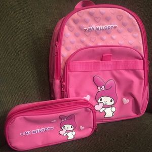 VHTF 2011 SanRio My Melody Pink Backpack w/ Case